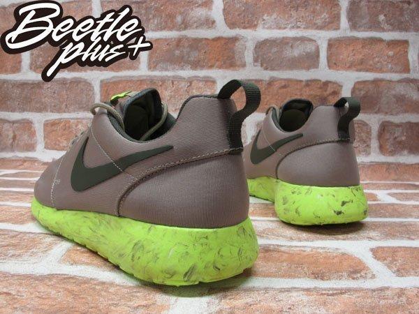 BEETLE PLUS NIKE ROSHE RUN QS 灰 螢光綠 渲染 大理石 男鞋 慢跑鞋 633054-200 2
