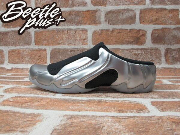 BEETLE PLUS 全新 NIKE SOLO SLIDE METALLIC SILVER 銀黑 太空 拖鞋 FOAMPOSITE 644585-002 0
