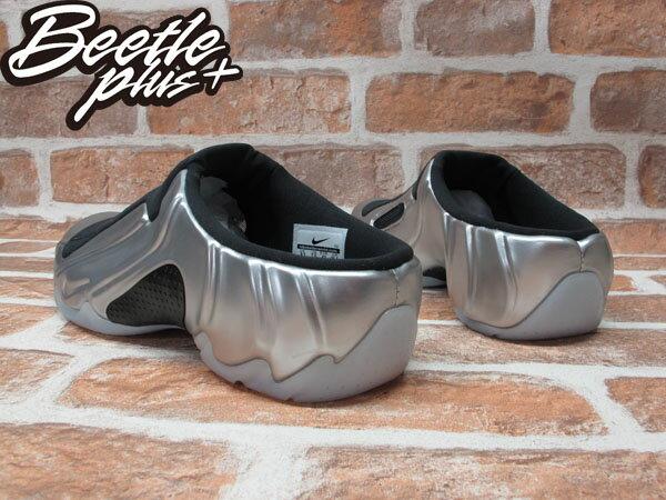 BEETLE PLUS 全新 NIKE SOLO SLIDE METALLIC SILVER 銀黑 太空 拖鞋 FOAMPOSITE 644585-002 2