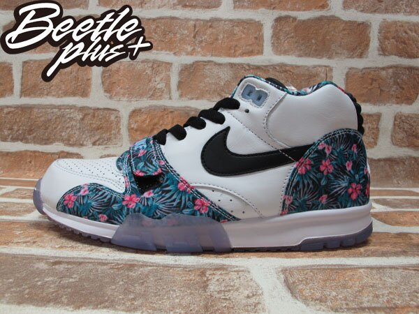 BEETLE PLUS 全新 NIKE AIR TRAINER I MID PRM PRO BOWL 花卉 FLORAL 訓練鞋 魔鬼氈 652393-100 0