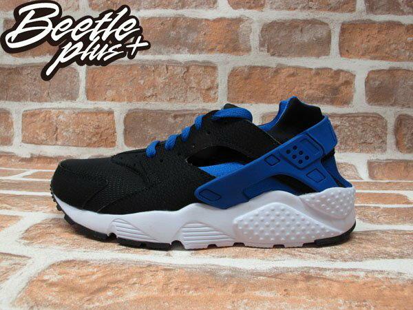 BEETLE PLUS NIKE AIR HUARACHE RUN GS 黑藍 慢跑 輕量 復古 忍者鞋 女鞋 654275-005