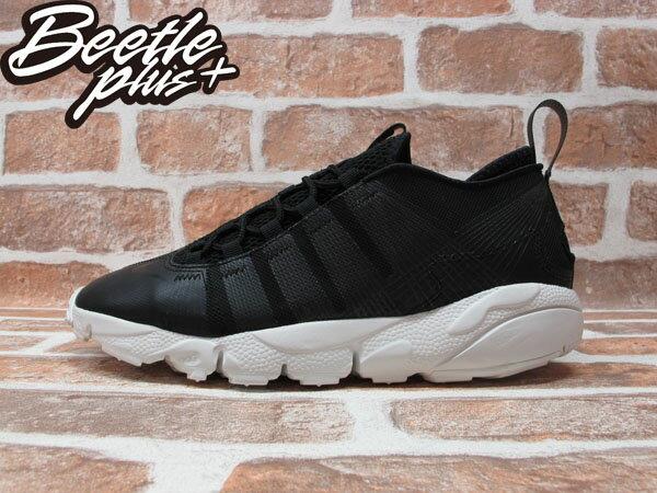 BEETLE PLUS 全新 NIKE AIR FOOTSCAPE MOTION BLACK 黑 皮革 側綁 藤原浩 編織鞋 慢跑鞋 395752-003 0
