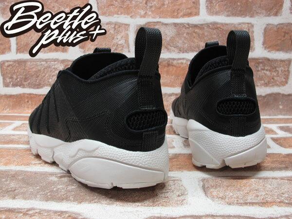 BEETLE PLUS 全新 NIKE AIR FOOTSCAPE MOTION BLACK 黑 皮革 側綁 藤原浩 編織鞋 慢跑鞋 395752-003 2
