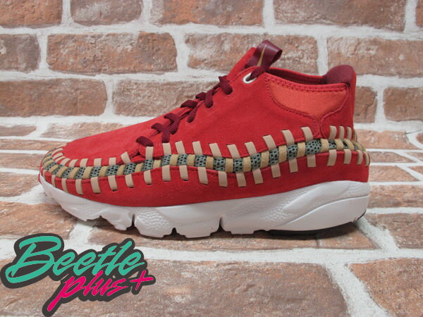 BEETLE PLUS 全新 NIKE AIR FOOTSCAPE WOVEN CHUKKA KNIT 紅綠 麂皮 編織 側綁 543208-863 0