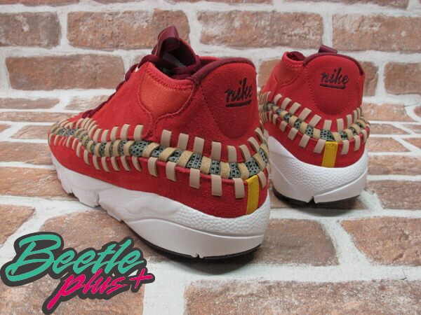 BEETLE PLUS 全新 NIKE AIR FOOTSCAPE WOVEN CHUKKA KNIT 紅綠 麂皮 編織 側綁 543208-863 2