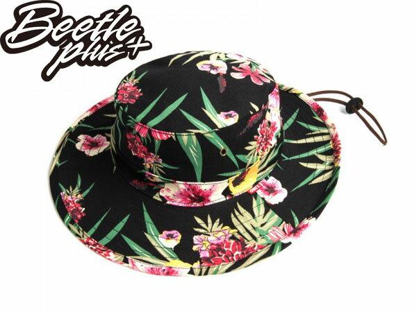 BEETLE PLUS 全新 美國品牌 OBEY BOONTS HAT FLORAL 漁夫帽 花瓣 紅 黑 雙色 春夏款 男女適用 100140106FOL 0