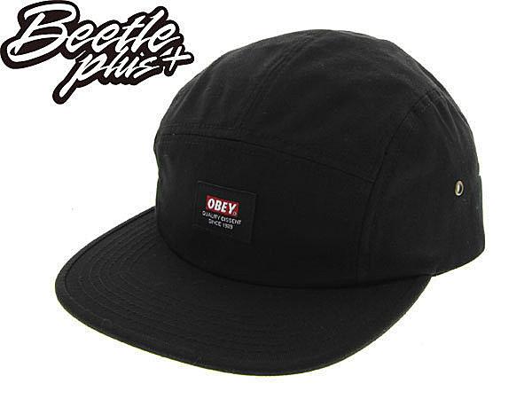 BEETLE PLUS 美國品牌 OBEY SARGE 5 PANEL 黑 LOGO 小車標 五片 五分帽 100140223BLK OB-220 0