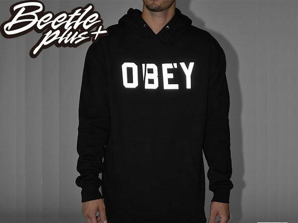 BEETLE PLUS 西門町經銷 全新 美國品牌 COLLEGIATE OBEY REFLECTIVE 3M 文字 反光 LOGO 黑白 美式 帽TEE 111730825BLK OB-207 1