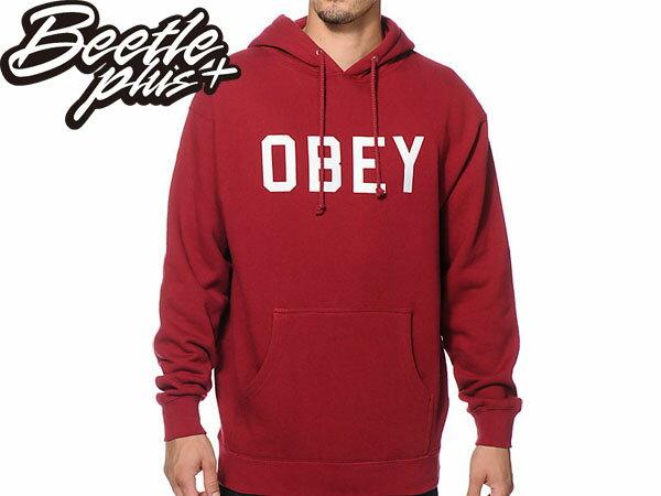 BEETLE PLUS 西門町經銷 全新 美國品牌 OBEY COLLEGIATE REFLECTIVE 3M 文字 反光 LOGO 酒紅 美式 帽TEE 111730825CAR OB-208 0