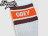 BEETLE PLUS 西門町經銷 全新 美國品牌 OBEY COOPER SOCKS LOGO OLD SCHOOL 咖啡 橘白 經典款 中長筒襪 100260003BRO OB-167 1