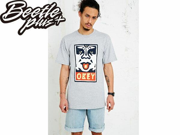 BEETLE PLUS 西門町經銷 全新 美國品牌 OBEY MEGA DOSE LOGO 灰 人臉彩繪塗鴉 NBA SUPREME NEW ERA 163080368HTR OB-185 0