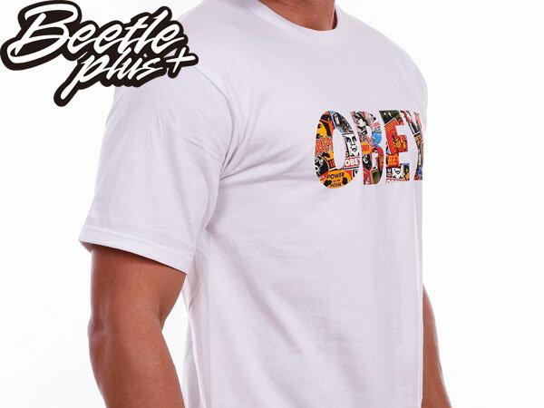 BEETLE PLUS 西門町經銷 全新 美國品牌 OBEY FONT LOGO TEE 白 民族風 圖騰 普普 文字彩圖 163080387WHT 2