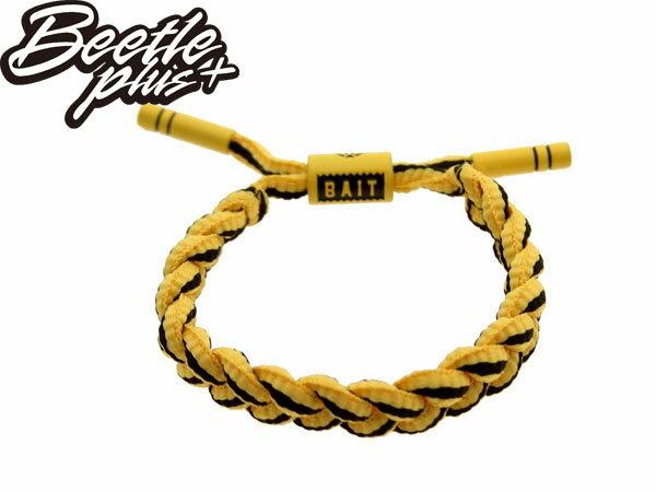 BEETLE PLUS 西門町經銷 全新 美國品牌 RASTACLAT X BAIT SHOELACE BRACELET 李小龍 黃黑 編織 手環 RA-17 1