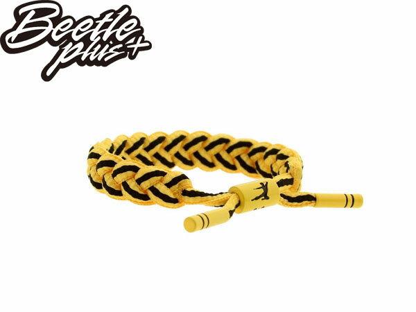 BEETLE PLUS 西門町經銷 全新 美國品牌 RASTACLAT X BAIT SHOELACE BRACELET 李小龍 黃黑 編織 手環 RA-17 0