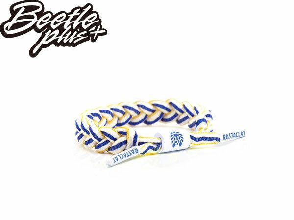 BEETLE PLUS 西門町經銷 全新 美國品牌 RASTACLAT SHOELACE BRACELET FLAIR 白藍黃 金州勇士 鞋帶 編織 手環 RA-09 - 限時優惠好康折扣