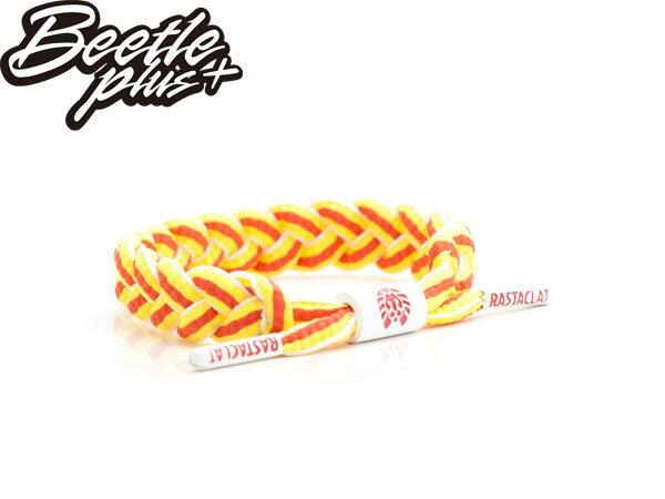 BEETLE PLUS 西門町經銷 全新 美國品牌 RASTACLAT SHOELACE BRACELET 橘黃 白 西班牙 世足 編織 手環 RA-12 - 限時優惠好康折扣