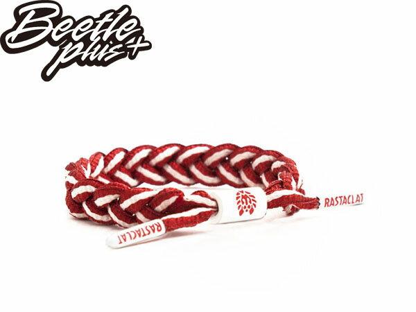 BEETLE PLUS 西門町經銷 全新 美國品牌 RASTACLAT SHOELACE BRACELET RED ROCKET 粉紅 紅 手環 糖果 RA-13
