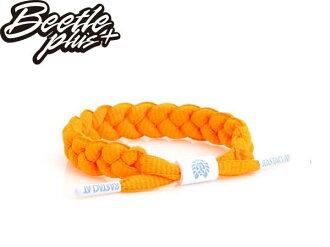 BEETLE PLUS 西門町經銷 全新 美國品牌 RASTACLAT SHOELACE BRACELET NEON ORANGE 螢光橘 橘子 手環 鞋帶 RA-29