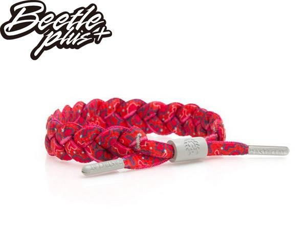 BEETLE PLUS 西門町經銷 全新 美國品牌 RASTACLAT SHOELACE BRACELET SHIITAKE 紅 香菇 民族 手環 編織 鞋帶 RA-30