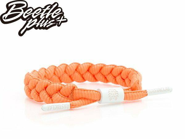 BEETLE PLUS 西門町經銷 全新 美國品牌 RASTALAT SHOELACE BRACELET TUESDAY 橙色 橘 灰 鞋帶 編織 手環 RA-48 - 限時優惠好康折扣