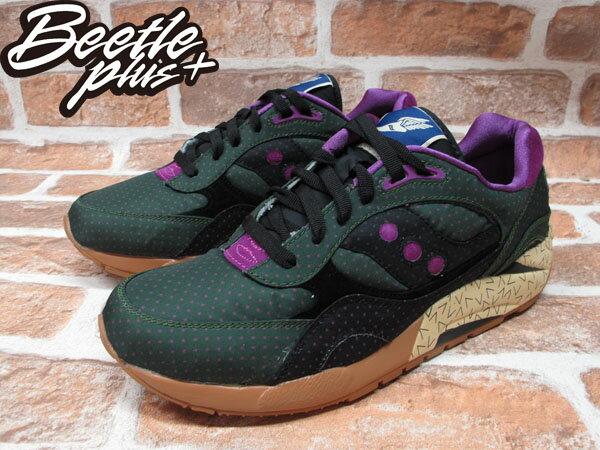 BEETLE PLUS SAUCONY SHADOW 6000 綠 紫 點點 尼龍 慢跑鞋 S70154-1 D-098 1