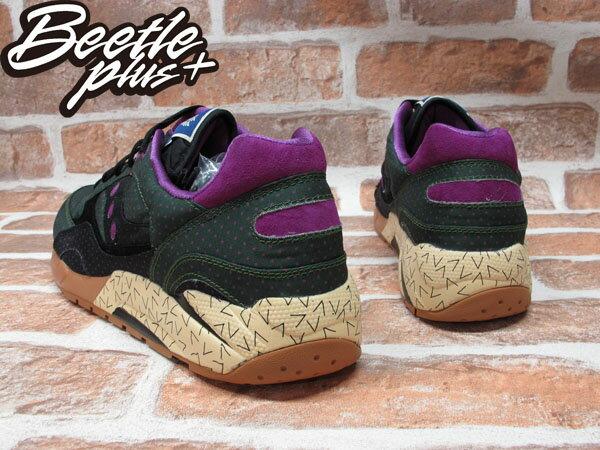 BEETLE PLUS SAUCONY SHADOW 6000 綠 紫 點點 尼龍 慢跑鞋 S70154-1 D-098 2
