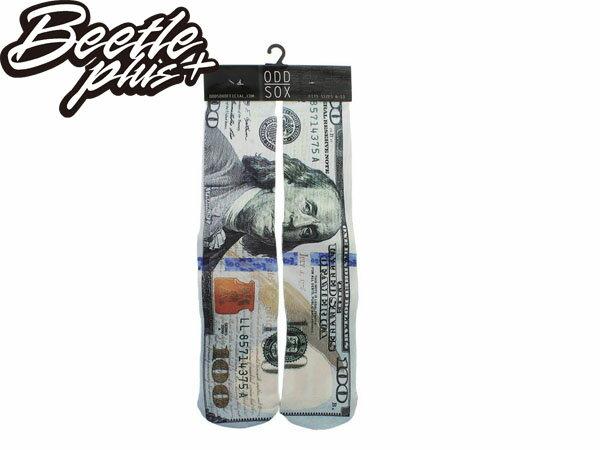 BEETLE PLUS 西門町 美國品牌 全新 現貨 ODD SOX THE NEW MONEY SOCKS 美金 鈔票 高筒襪 富蘭克林 MN-236 - 限時優惠好康折扣