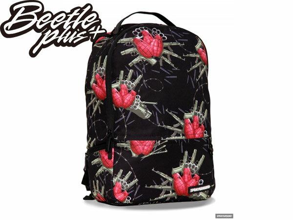 BEETLE PLUS 全新 美國潮牌 SPRAYGROUND 超強功能性 後背包 THE FLOWER BOMB BACKPACK 手榴彈 黑紅 SP-04