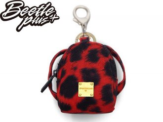 BEETLE PLUS 全新 美國潮牌 SPRAYGROUND COIN 零錢包 紅豹紋 THE HELLO LEOPARD MINI BACKPACK KEYCHAIN SP-13