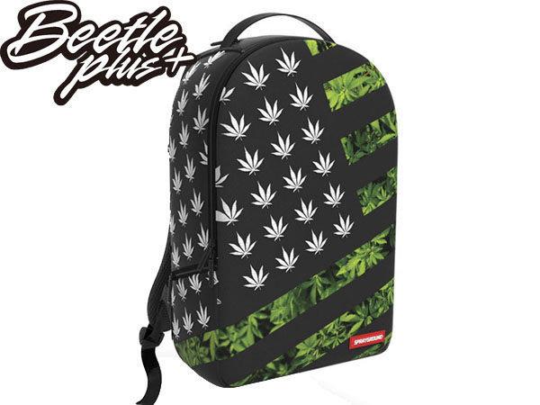 BEETLE PLUS 全新 SPRAYGROUND 超強功能性 後背包 AMERICAN DIESEL 美國國旗 大麻葉 HUF HEMP 黑綠 SP-26