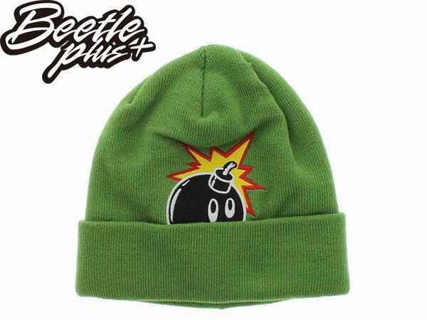 BEETLE PLUS THE HUNDREDS PEEK A BOMB BEANIE 炸彈 LOGO 綠 草綠 毛帽 - 限時優惠好康折扣
