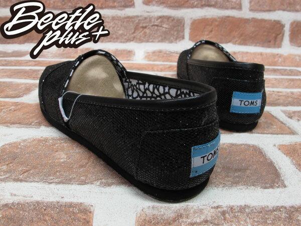 BEETLE PLUS 全新 TOMS CLASSICS BLACK GLITTER WOMEN 女鞋 黑 亮片 平底 帆布鞋 001013B09-BLK TOMS-09 2