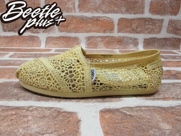 BEETLE PLUS 全新 TOMS CLASSICS LEMON CROCHET WOMEN 女鞋 雕花 檸檬黃 平底 帆布鞋 001096B13-LEM TOMS-03 0