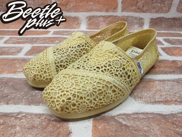 BEETLE PLUS 全新 TOMS CLASSICS LEMON CROCHET WOMEN 女鞋 雕花 檸檬黃 平底 帆布鞋 001096B13-LEM TOMS-03 1