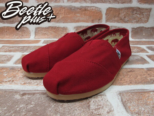BEETLE PLUS 全新 TOMS CLASSICS RED CANVAS WOMEN 女鞋 布面 紅 平底 帆布鞋 TOMS-024 1