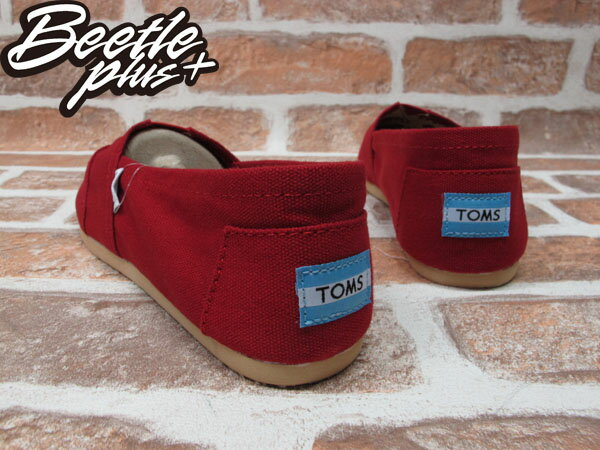 BEETLE PLUS 全新 TOMS CLASSICS RED CANVAS WOMEN 女鞋 布面 紅 平底 帆布鞋 TOMS-024 2