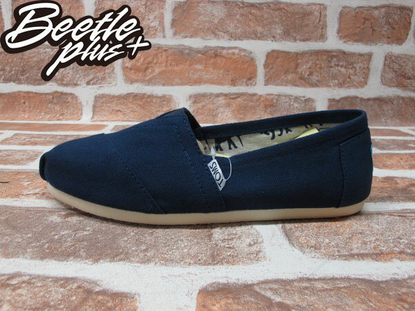 BEETLE PLUS 全新 TOMS CLASSICS NAVY CANVAS WOMEN 女鞋 布面 藍 平底 帆布鞋 TOMS-018 0