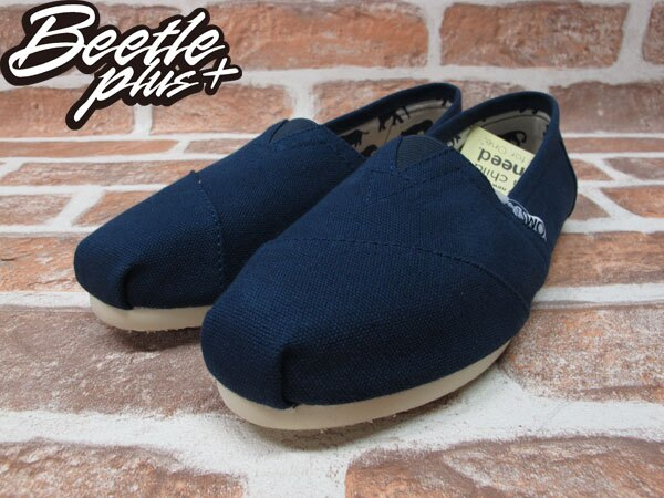 BEETLE PLUS 全新 TOMS CLASSICS NAVY CANVAS WOMEN 女鞋 布面 藍 平底 帆布鞋 TOMS-018 1