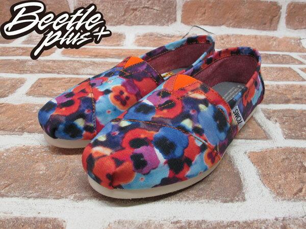 BEETLE PLUS 全新 現貨 TOMS CLASSICS OAHU WOMEN 女鞋 渲染 碎花 平底鞋 帆布鞋 001026B13-OAH TOMS-05 1