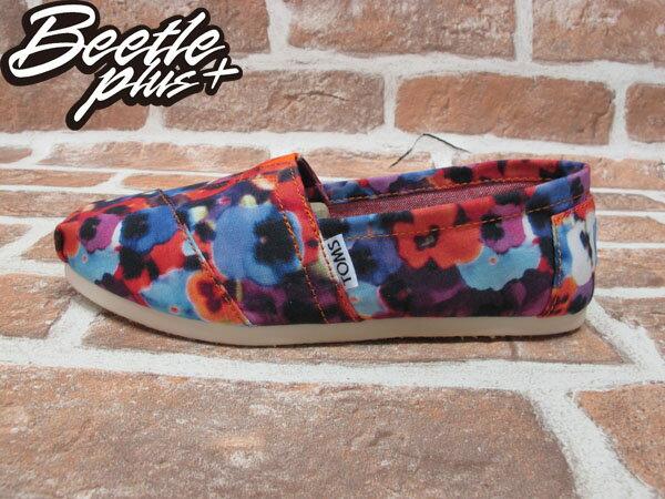 BEETLE PLUS 全新 現貨 TOMS CLASSICS OAHU WOMEN 女鞋 渲染 碎花 平底鞋 帆布鞋 001026B13-OAH TOMS-05 0