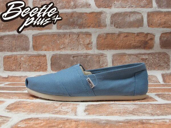 BEETLE PLUS 全新 現貨 CLASSICS TOMS BLUE 天空 水藍 布面 休閒 平底 懶人鞋 阿甘鞋 帆布鞋 TOMS-034 0
