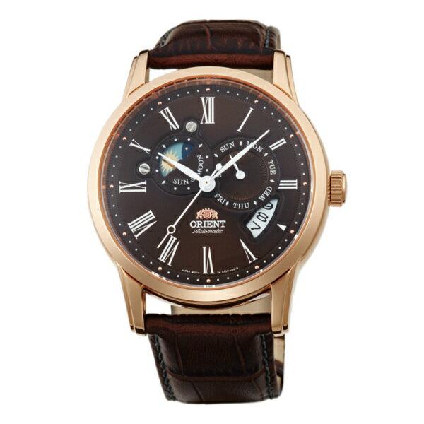Orient 東方錶(SET0T003T)羅馬數字日月相錶機械腕錶/咖啡面42mm