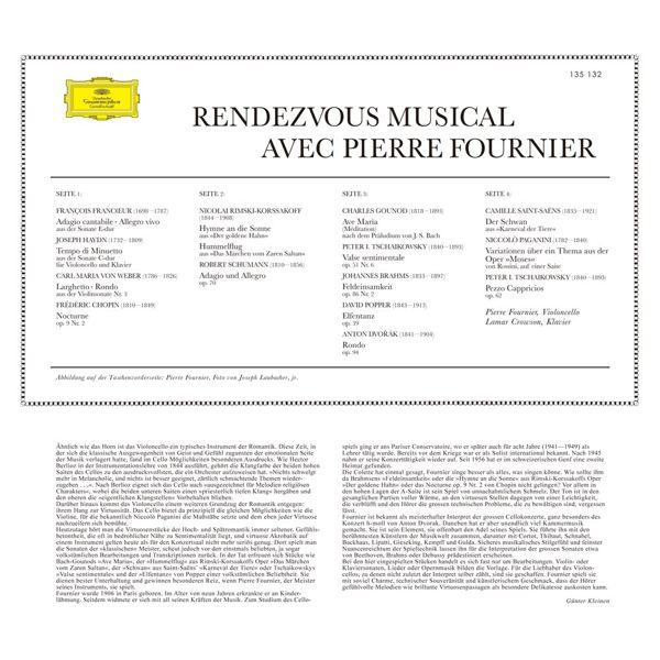【停看聽音響唱片】【黑膠LP】與傅尼葉相約:大提琴小品音樂會
