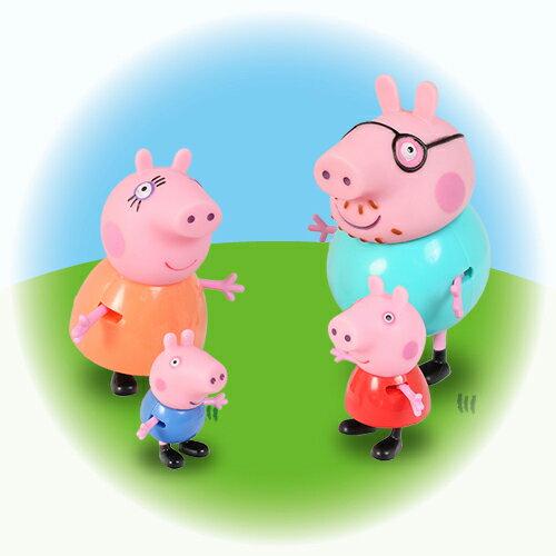 粉紅豬小妹 家庭公仔組/混2款 / 媽媽&佩佩 / 爸爸&喬治 / Peppa Pig / 伯寶行