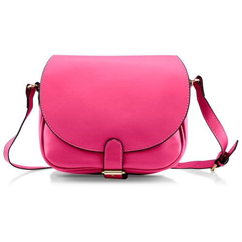 c981f92de48a Fashion Women Crossbody Handbag PU Leather Shoulder Bag Tote Purse Ladies  Satchel Messenger Hobo Bags - Hot Pink