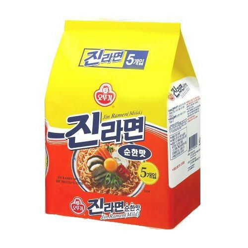 韓國不倒翁金拉麵原味120g*5【愛買】