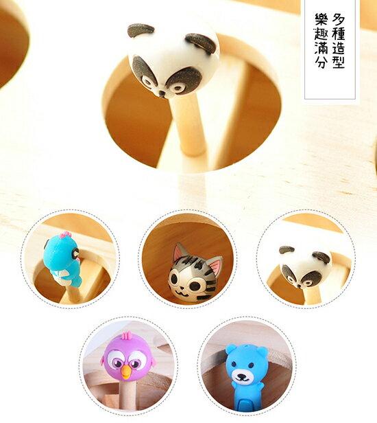 ++貓主子樂趣必備++可愛動物造型打地鼠木造玩具-小樂寵 6