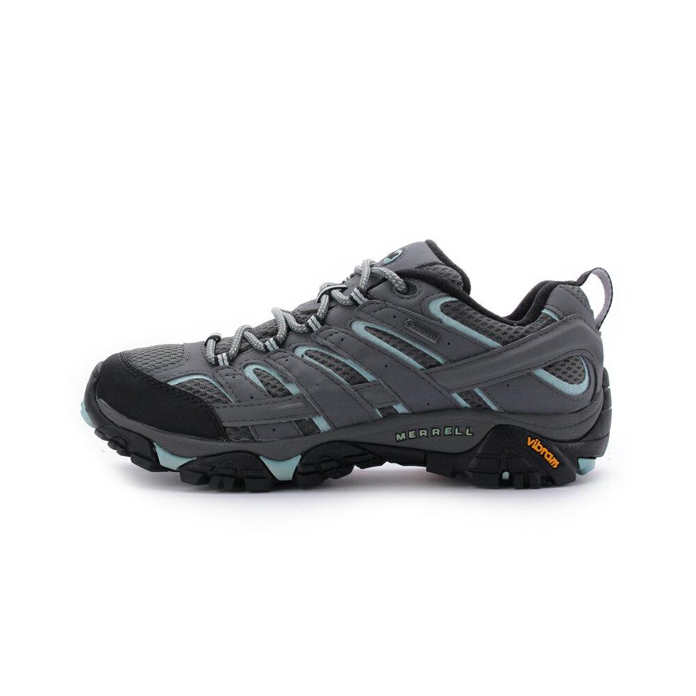 MERRELL MOAB 2 GORE-TEX 防水登山鞋 灰/淺藍 ML06036W 女鞋登山越野│耐磨│防潑水