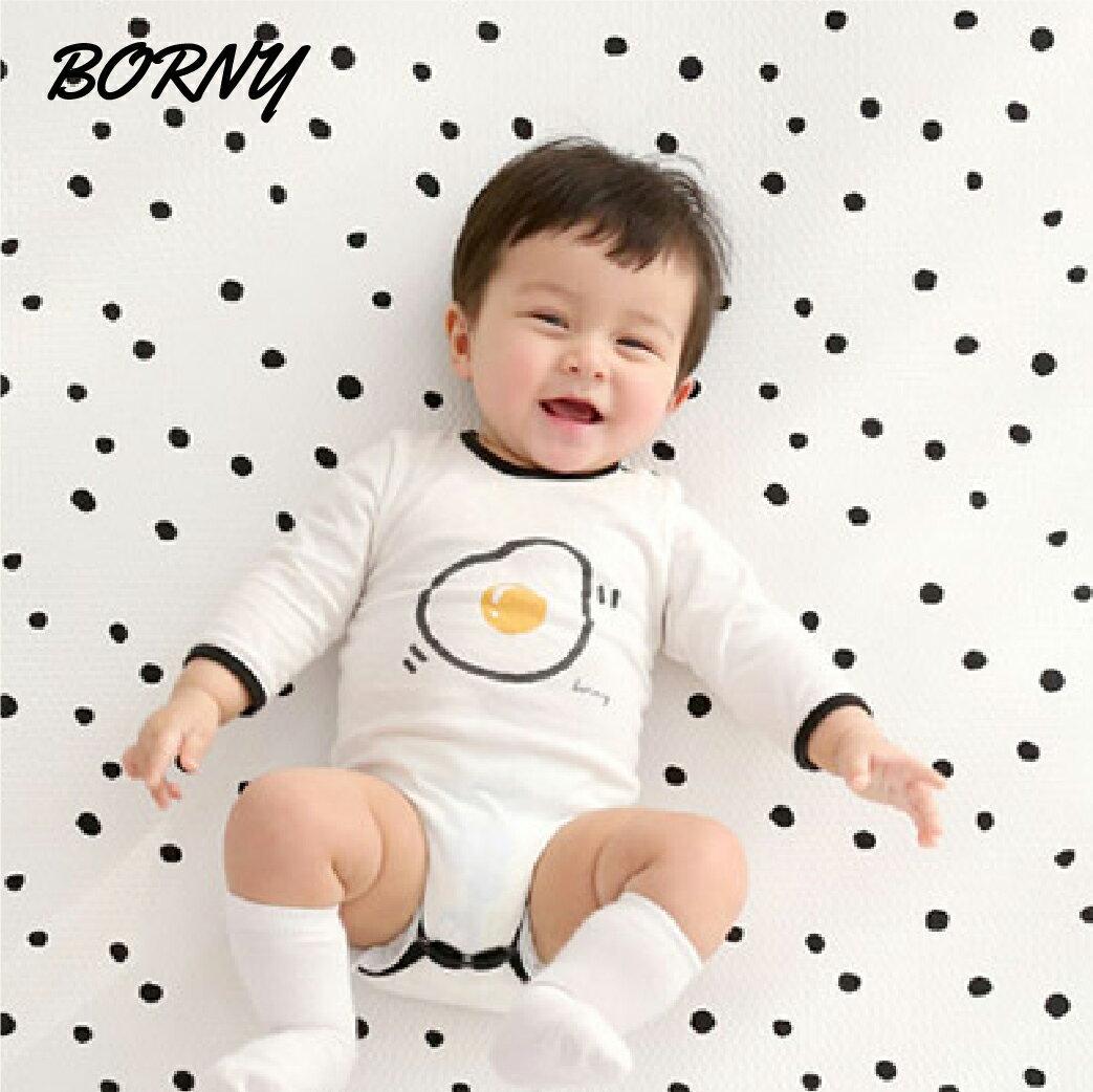 韓國【Borny】3D立體透氣嬰兒床墊(灰底心)