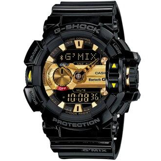 CASIO G-SHOCK/引領時尚潮流運動錶/黑*金/GBA-400-1A9DR
